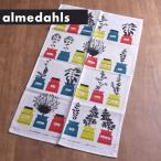 《3点までメール便可能》 アルメダールス キッチンタオル ( 70210 ) < ハーブポット/レッド×ライム > 【 Almedahls スウェーデン 北欧雑貨 】