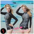 ウェットスーツ 日焼き予防 2点セット 長袖 速乾 UV水