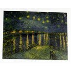 ゴッホ ローヌ川の星月夜 星月夜  星降る夜 ポスター おしゃれ レトロ風 世界の名画 36cm×47cm インテリア 絵画 2営業日発送