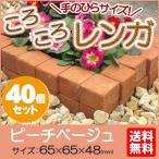 花壇 庭 ころころ レンガ 40個セット ピーチベージュ  茶 ミニレンガ 当店オリジナル サイズ