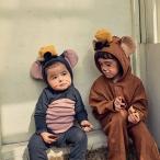 ハロウィン衣装 ベビー服 赤ちゃん 子供用 コスプレ服 ロンパース ハロウィーン仮装 男の子 女の子 可愛い ねずみ 変装 66 73 80 90