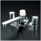 【KM296Z】 《KJK》 KVK デッキ形定量止水付2ハンドル混合栓 寒冷地用 ωζ0