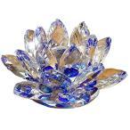 蓮の花 クリスタル ガラス 置物 インテリア ハス 風水