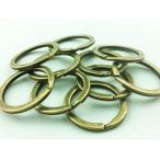 ショッピングストラップ パーツ 平 キーリング 25mm 金古美 アンティーク ゴールド 10個 キーホルダー ストラップ パーツ アクセサリー 金具 (AP0077)