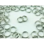 ショッピングストラップ パーツ 二重 丸カン 6mm 100個 シルバー 銀色 アクセサリー リング パーツ マルカン 丸環  金具 (AP0097)