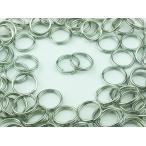 ショッピングストラップ パーツ 二重 丸カン 8mm 100個 シルバー 銀色 マルカン 丸環 アクセサリー リング パーツ ハンドメイド 金具 (AP0099)