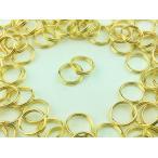 ショッピングストラップ パーツ 二重丸カン 8mm 100個 ゴールド 金色 マルカン 丸環 アクセサリー リング パーツ ハンドメイド 金具 (AP0100)