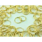 ショッピングストラップ パーツ 二重 丸カン 10mm 100個 ゴールド 金色 マルカン アクセサリー リング パーツ ハンドメイド 金具 (AP0103)