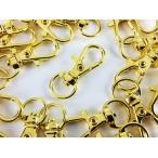 ショッピングストラップ パーツ ナスカン ゴールド 32mm 20個 金 回転 フック アクセサリー キーホルダー ストラップ パーツ ハンドメイド 金具 (AP0135)
