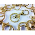 ショッピングストラップ パーツ ナスカン ゴールド 10個 金 二重 リング 回転 フック 付き アクセサリー キーホルダー パーツ ハンドメイド 素材 (AP0166)