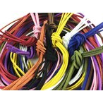 スエード 紐 1m 50本 10色x5本 革ひも 革ヒモ 革紐 チョーカー ネックレス パーツ ハンドメイド 手芸 用 (AP0221)