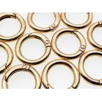 ショッピングストラップ パーツ カラビナ 丸 ゴールド KC金 10個 24mm サークル キーホルダー ストラップ パーツ リング  ナスカン パーツ AP0445