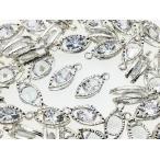 ショッピングチャーム チャーム 50個 シルバー 白銀 しずく ロップ ネックレス ピアス イヤリング 素材 (AP0446)