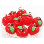 ショッピングチャーム チャーム フルーツ リンゴ 10個 11mmx12.5mm レッド 林檎 りんご アクセサリー パーツ アップル (AP0463)