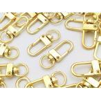 ショッピングストラップ パーツ ナスカン ゴールド 30個 薄型 回転フック アクセサリー キーホルダー ストラップ パーツ ハンドメイド 金具(AP0489)