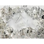 ピアスパーツ シルバー 白銀 100個 8mm 台座 カン付き 平皿 丸皿 ピアス 金具 アクセサリー パーツ (AP0615)