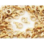 カニカン ゴールド KC金 100個 10mm 金具 留め具 留め金具 ストラップ ネックレス ブレスレット アジャスター パーツ (AP0728)