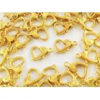 ショッピングストラップ パーツ カニカン ハート ゴールド 50個 10mm 金具 留め具 留め金具 ストラップ ネックレス ブレスレット アジャスター パーツ (AP0755)