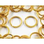 平キーリング 20mm ゴールド 50個 二重リング キーホルダー ストラップ パーツ 金具 AP1053