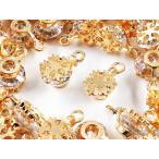 チャーム 50個 雪の結晶 花 ゴールド アクセサリーパーツ ネックレス ピアス イヤリング 素材 AP1146