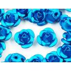 アルミ薔薇 ライトブルー 7mm 100個 ローズ ハンドメイド アクセサリーパーツ AP1364
