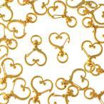 キーホルダーパーツ ハート ナスカンパーツ 20個 ゴールド アクセサリーパーツ ナスカン 金具 ハンドメイドパーツ AP1711
