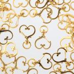キーホルダー パーツ ハート ゴールド 40個 ナスカン 金具 アクセサリー ハンドメイド 手芸  AP2135