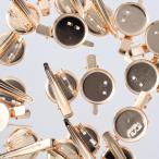 コサージュ ピン 台座 20mm ゴールド 20個 KC金 ブローチ 金具 クリップ ハンドメイド 手芸 アクセサリー パーツ  AP2150