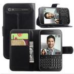 BlackBerry Classic Q20 カバー 手帳型 各色あり ケース スタンド レザーデザイン カード 収納 ポケット ハードケース