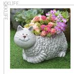 プランター 植木鉢 フラワーポット 鉢植え 栽培 北欧風 猫 ネコ 動物 可愛い 多肉 多肉植物 ガーデニング 玄関飾り 観葉植物 飾り インテリア
