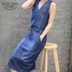 2018ファッション女性デニムドレスカジュアルジーンズドレスポケットプラスサイズレディースドレスファッション固体ネック新しい夏のドレス0349 40