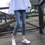 原宿女性ハイウエスト鉛筆デニムパンツ夏ヴィンテージ韓国オル疲れるファッションスリムスキニーストレッチジーンズロングパンツ