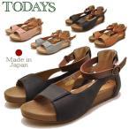 ショッピングブーツサンダル TODAY'S TODAYS  トゥデイズ サンダル アンクルストラップサンダル オープントゥ フラットサンダル レディース 靴