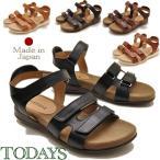 ショッピングブーツサンダル TODAY'S TODAYS  トゥデイズ サンダル アンクルストラップ ベルクロ フラットソールサンダル レディース 靴