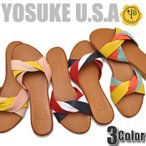 ショッピングブーツサンダル フラットサンダル レディース ミュール YOSUKE U.S.A ヨースケ