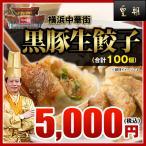 黒豚生餃子 100個(20個入り×5箱) 販売個数2500万個突破・パリパリ感が他とは違う。 レトルト食品 お取り寄せグルメ
