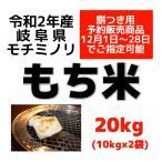 【予約受付中】 令和2年産 岐阜県産もち米(モチミノリ) 20kg(10kg×2) 白米