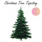 クリスマスツリー タペストリー 画像