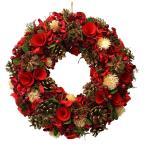 クリスマスリースレッドMサイズ【ナチュラルリースMサイズ/玄関/おしゃれ】