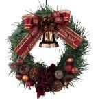 クリスマスリース 15cm ブラウン 玄関 おしゃれ 北欧 手作り