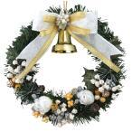 クリスマスリース 20cm ホワイトゴールド 玄関 おしゃれ 北欧 手作り