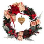 クリスマスリース 30cm レッド 玄関 おしゃれ 北欧 手作り