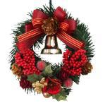 クリスマスリース 15cm レッド 玄関 おしゃれ 北欧 手作り