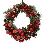 クリスマスリース 20cm レッド 玄関 おしゃれ 北欧 手作り