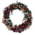 クリスマスリース 20cm バーガンディ 玄関 おしゃれ 北欧 手作り