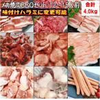 牛タンスライス 薄切り 塩タン バーベキュー 食材 BBQ 肉 焼肉セット 牛カルビ バラ 牛ハラミ 豚バラ 豚トロ 牛肉 豚肉 焼肉 4.0kg 送料無料 12〜15人前
