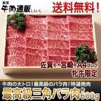 [佐賀牛・宮崎牛]三角バラ 特選焼肉約600g【送料無料】