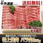 [佐賀牛・宮崎牛]特上焼肉 バラ肉 約600g【送料無料】