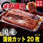 うなぎ ウナギ 鰻 蒲焼き メガ盛り 20枚 訳あり お中