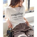 Tシャツ オーバーサイズ ロゴ シンプル Tシャツ ゆるTシャツ 半袖 カットソー チュニック C2000送料無料メ便対応